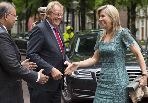 Queen Maxima attends the oration of profesor Saradindu Bhaduri of the Prince Claus Leerstoel at the Kloosterkerk