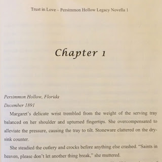 Screengrab of first page of Chapter 1 of Trust in Love novella