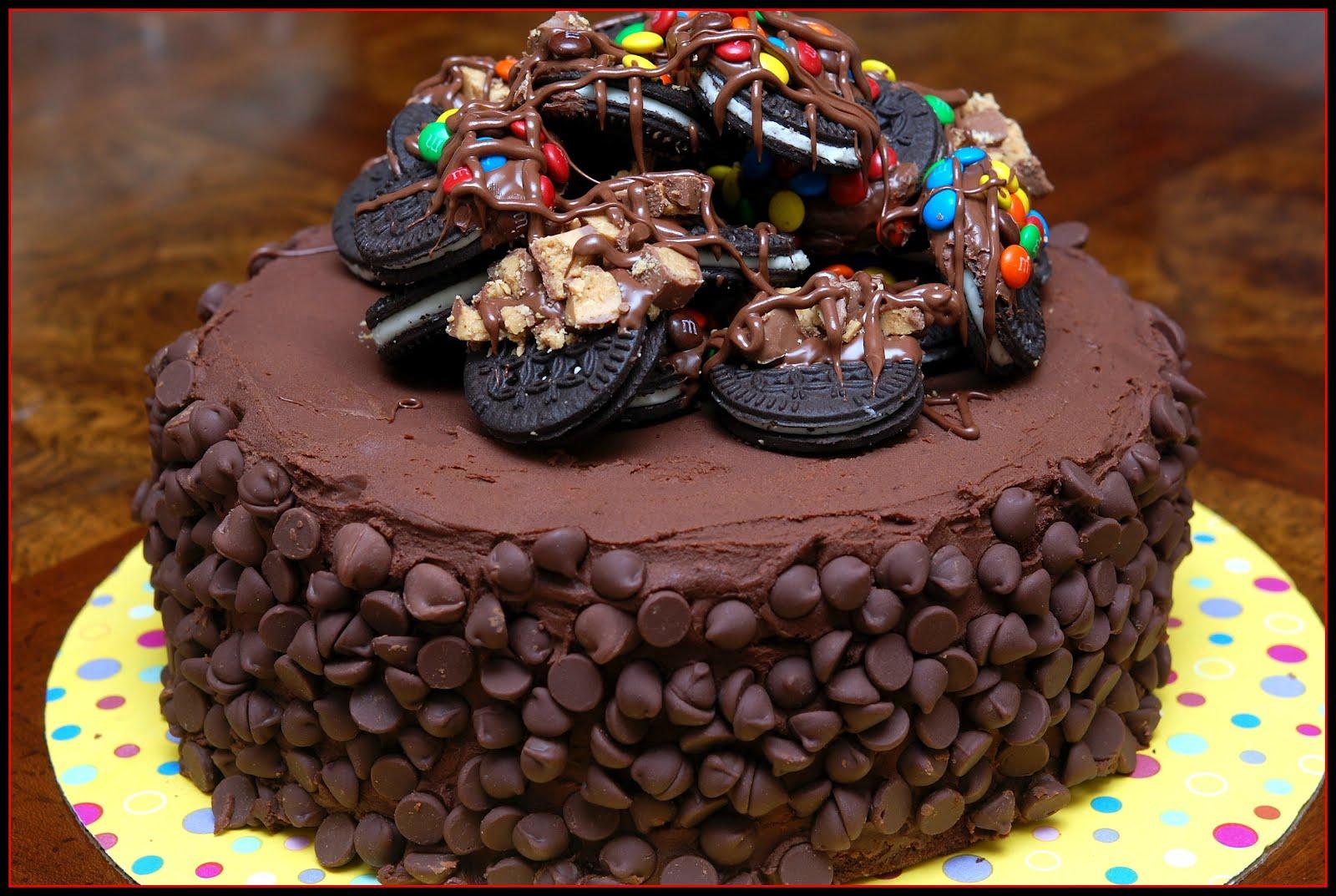 Triple Chocolate Scoop Cake