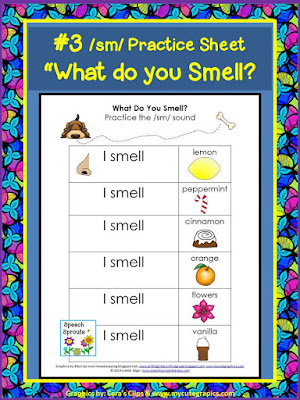 FREE Sense of smell center activity for your five senses unit. www.speechsproutstherapy.com