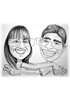caricatura de casal para presente de namoro