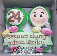 Cupcake Fondant 2d Untuk Ibu dan Anak Cewek