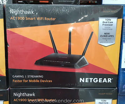 Get fast high-speed wifi with the Netgear Nighthawk AC1900 Smart WiFi Router (model R6900)