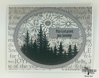 Our Daily Bread Designs Stamp Set: Seek Me, Paper Collection: Winter, Custom Dies: Pierced Ovals, Double Stitched Rectangles