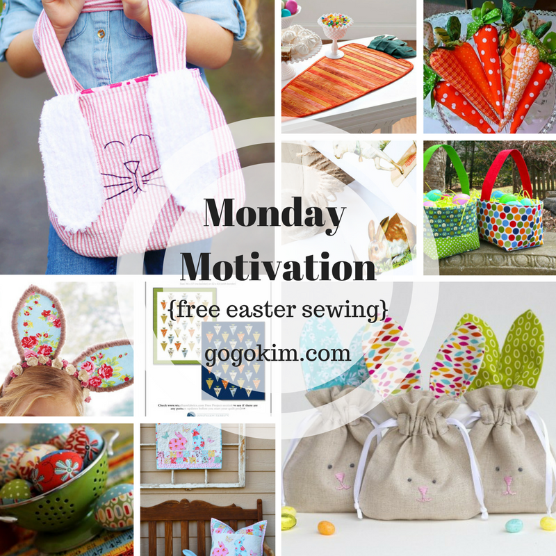 Monday motivation free sewing projects for easter go go kim monday motivation free sewing projects for easter negle Images