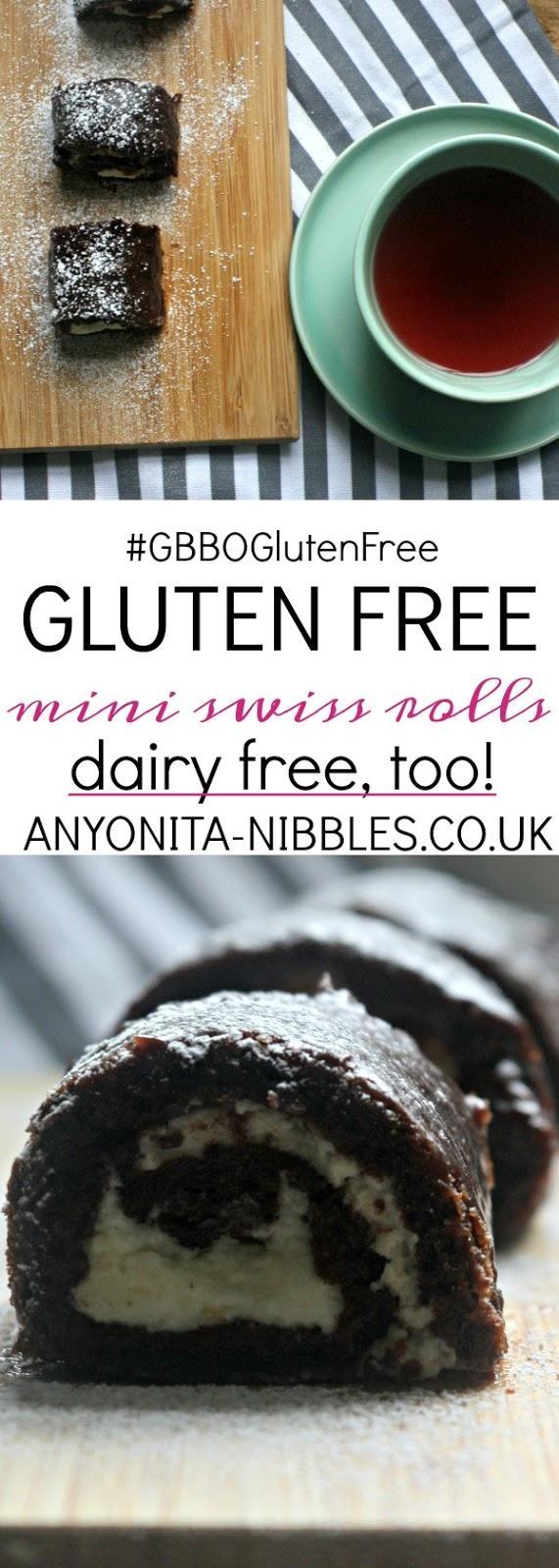 Gluten Free Dairy Free Mini Swiss Rolls