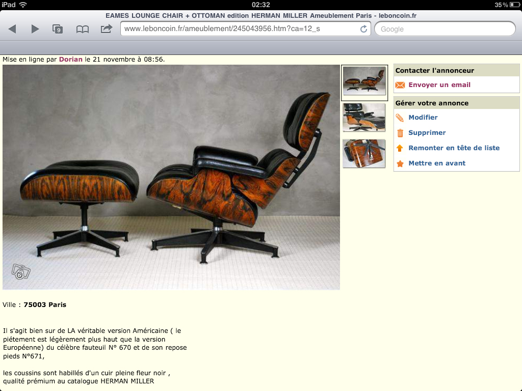 Lounge Chair Eames Arnaque Arnaque Lounge Chair Eames Ottoman