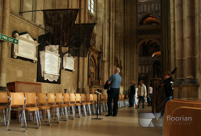 Katedra w Canterbury - widok w środku - nawa boczna