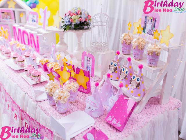 bàn gallery sinh nhật ở biên hòa