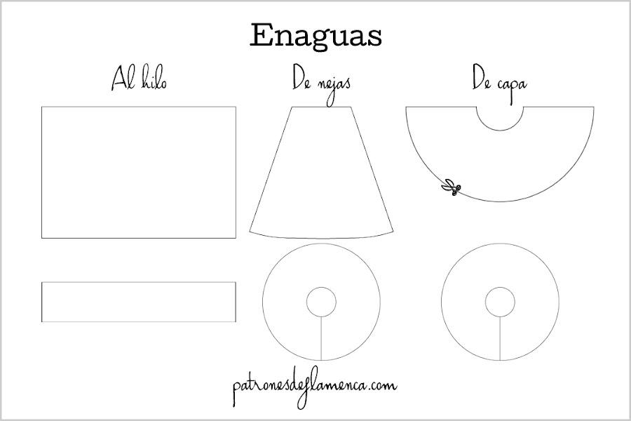 Patrones de enaguas de flamenca