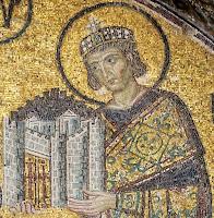 Ο Μέγας Κωνσταντίνος, μωσαϊκό στην Αγία Σοφία (Κωνσταντινούπολη), π. 1000