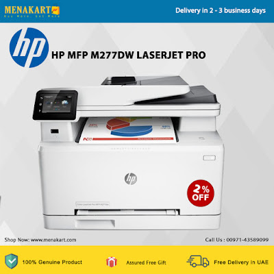 HP MFP M277dw LaserJet Pro Multifunction Wireless Color Printer