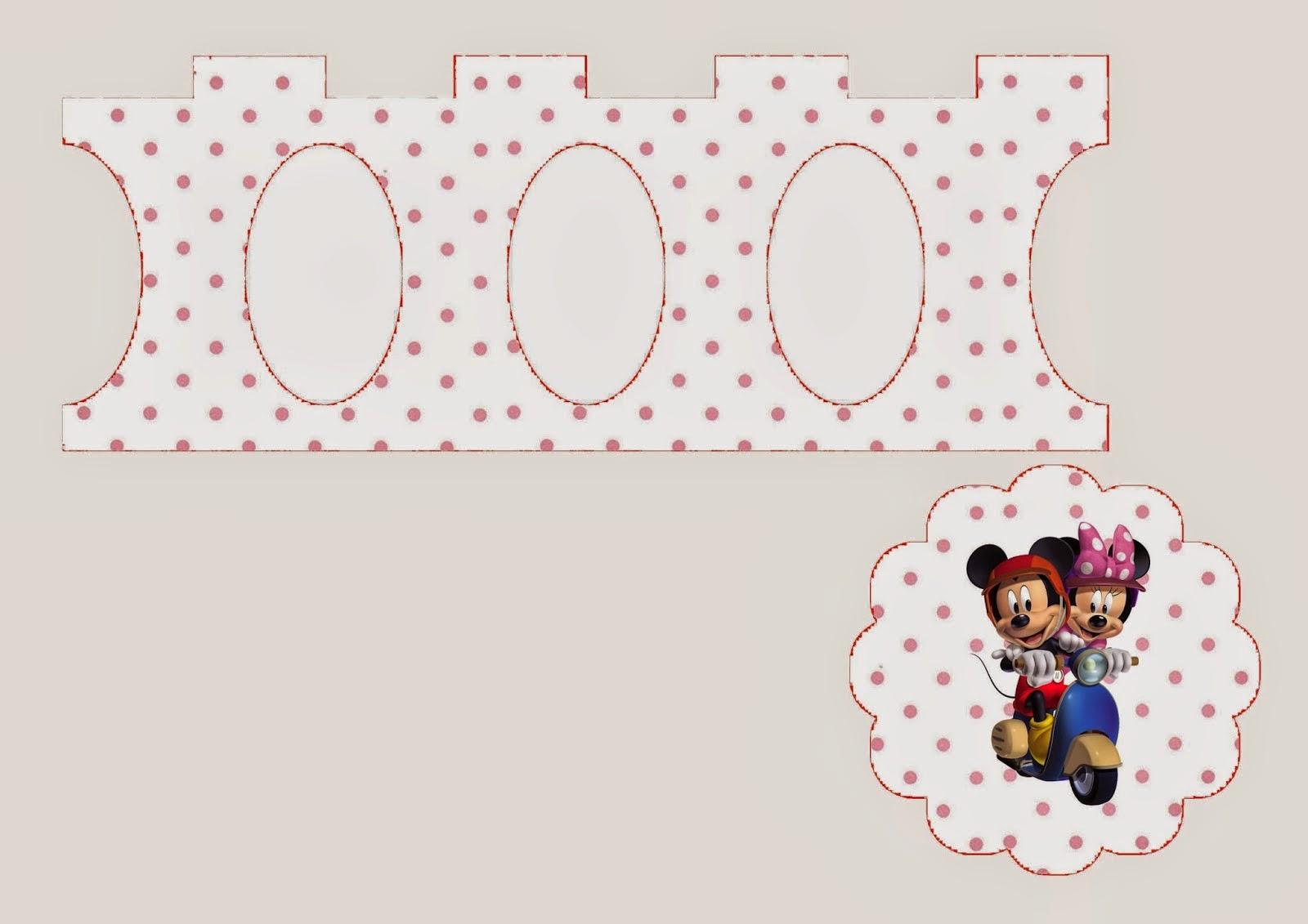 Minnie y Mickey: Stand para Cupcakes para Imprimir Gratis.