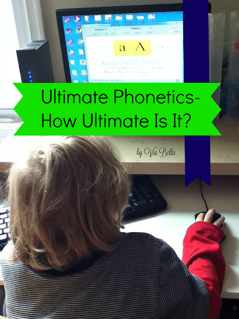 Ultimate Phonetics- How Ultimate Is It?, Ultimate Phonics Reading Program {Spencer Learning}, Spencer Learning, Via Bella, Homeschool Review, Phonetics, TOS Crew, Homeschool Review Crew, Learning to Read, product review, hooked on phonetics, ELL, learning disabilities, learning english, struggling reader