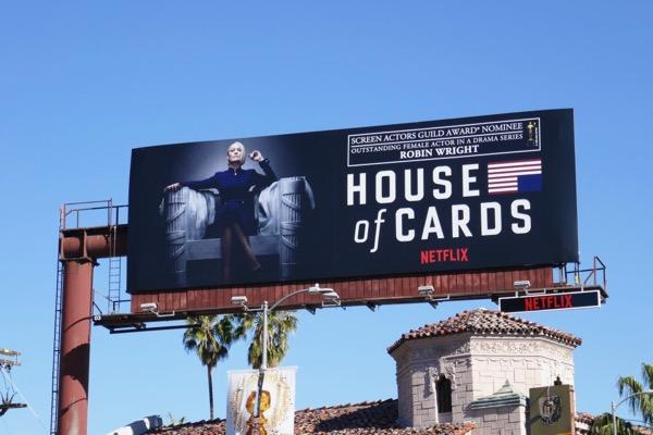 Robin Wright House of Cards S6 SAG Award billboard