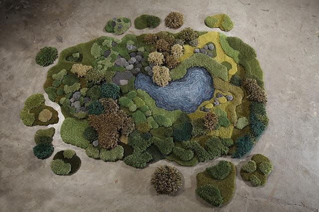 Green Pear Diaries, artesanía, Alexandra Kehayoglou, alfombras de lana, hecho a mano