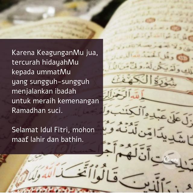 Kumpulan Ucapan Kata Kata Lebaran Selamat Idul Fitri