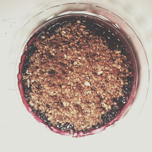 It's Pi Day! So Here's a Vegan Berry Crumble in a Pie Pan (with coconut whipped cream)  ~ A Nerd Gone Natural