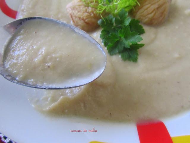 Crema de castañas e hinojo