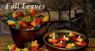 Fall leaf candles
