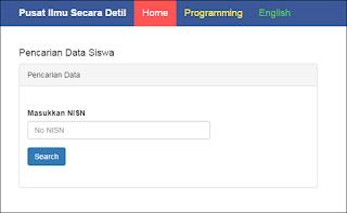 form searching menggunakan bootstrap