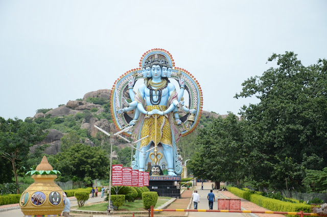 huge shiva idol museum of hindu mythology surendrapuri bhongir