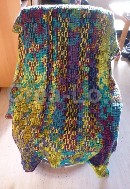 Crea-Logboek: Basket weave stitch blanket