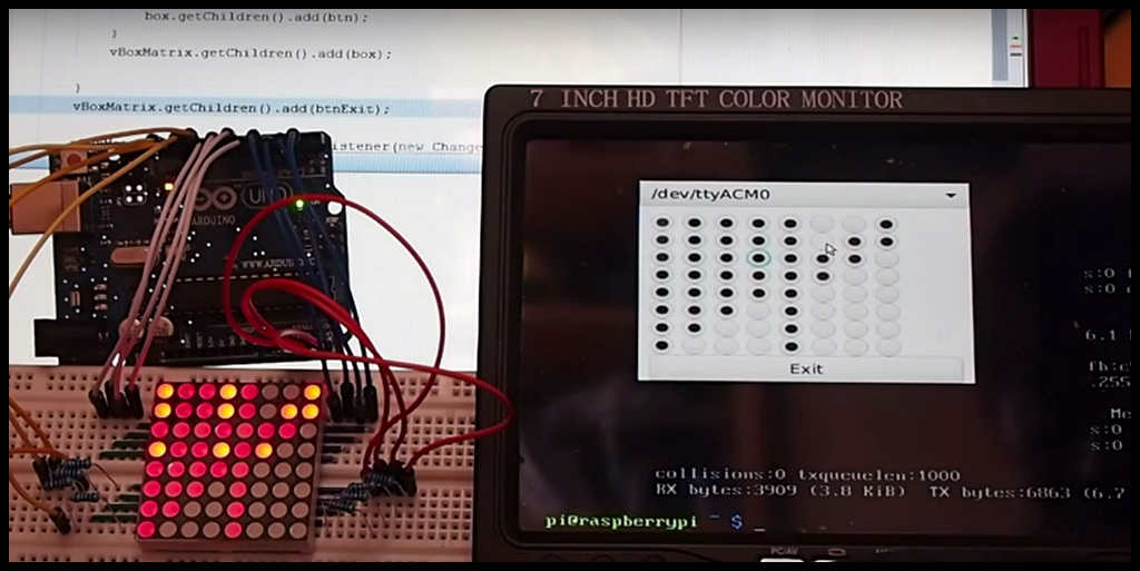 Arduino-er: Raspberry Pi control Arduino + 8x8 LED Matrix