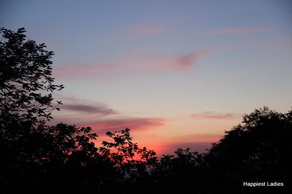 sunset view from chamundi hill mysore