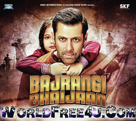 Poster Of Bollywood Movie Bajrangi Bhaijaan (2015) 400MB Compressed Small Size Pc Movie Free Download worldfree4u.com
