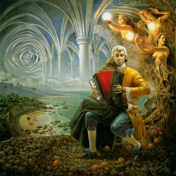 03-count-of-orange-dreams-Michael-Cheval-Surreal-Paintings-that-Draw-inspiration-from-The-East-and-West-www-designstack-co