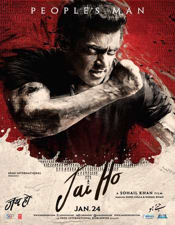 Poster Of Jai Ho 2014 Hindi 600MB BRRip 720p ESubs HEVCC Watch Online Free Download downloadhub.in
