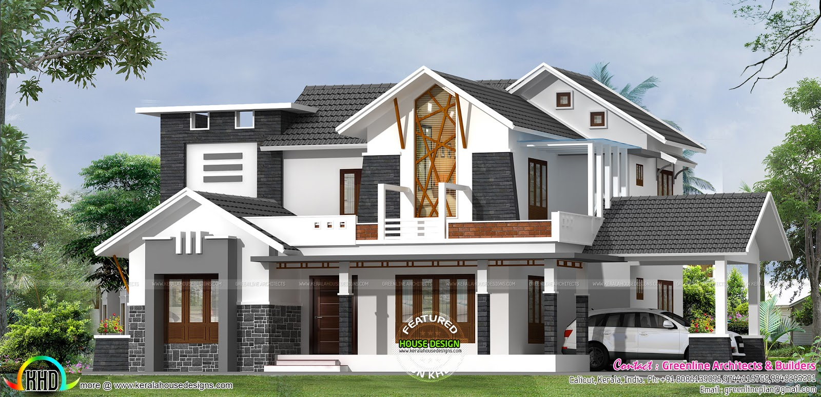 modern contemporary house in 2898 sq ft home design simple