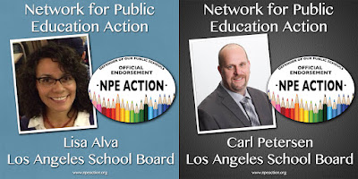 Carl Petersen and Lisa Alva for LAUSD