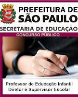 Prefeitura de São Paulo abre concurso na área da Educação (SME)