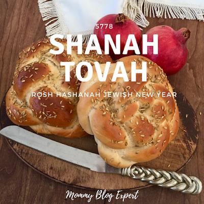 Rosh Hashanah Homemade Round Challah Pomegranates