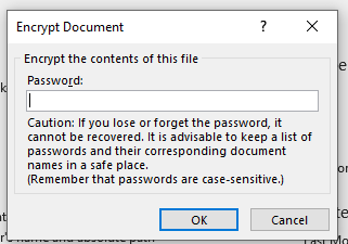 Cara memberikan password di dokumen microsotf office