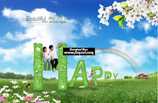 FREE PSD download : Children designs in landscaped splendor