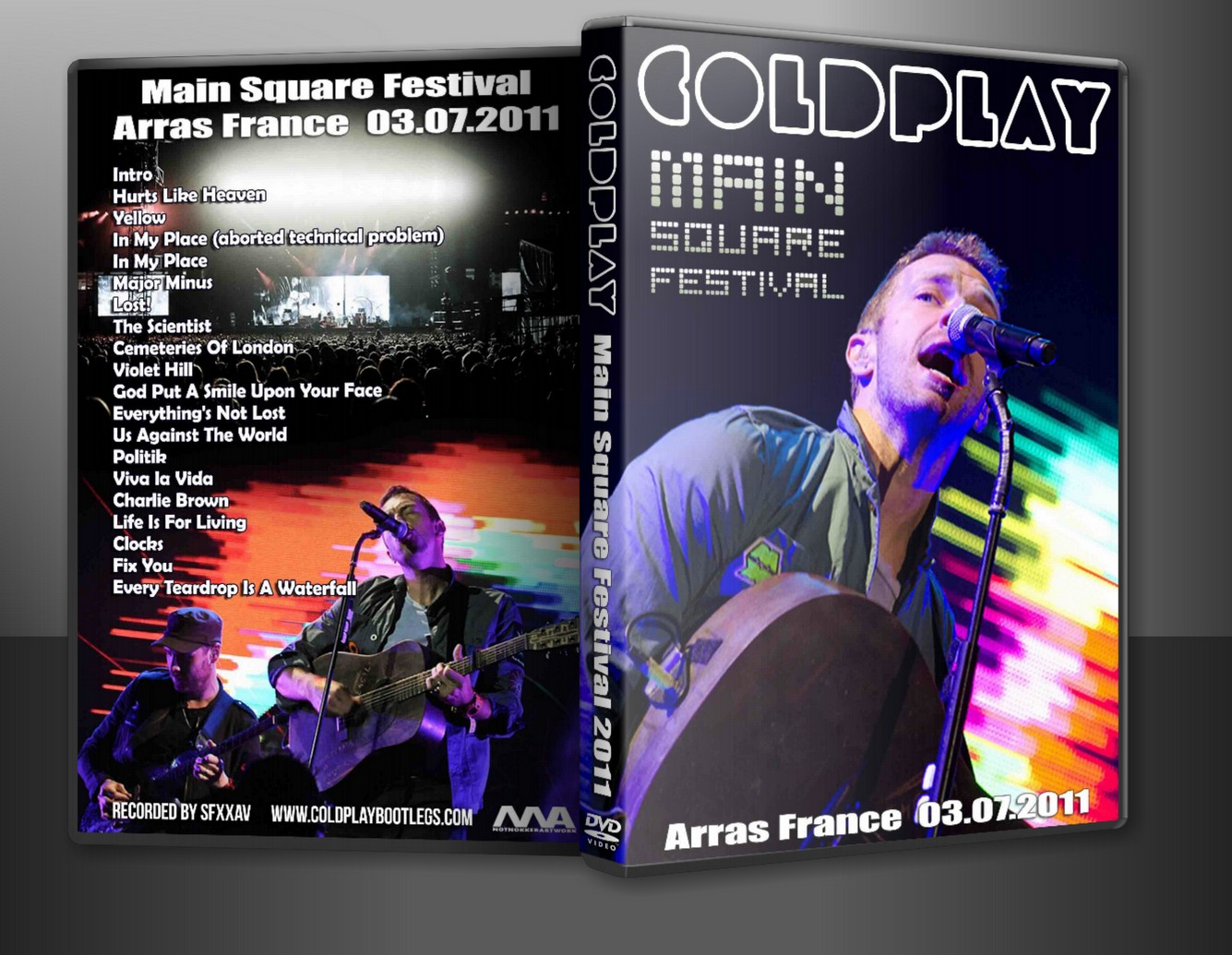 DVD Concert TH Power By Deer 5001: Coldplay - 2011-07-03 - Main Square Festival; Arras. France (DVD5/PAL/ProShot)