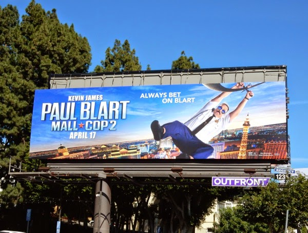 Paul Blart Mall Cop 2 movie billboard
