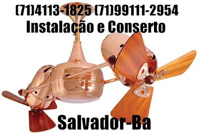 Instalação de ventilador de teto em Lauro de Freitas-BA-71-99111-2954 wahtsapp
