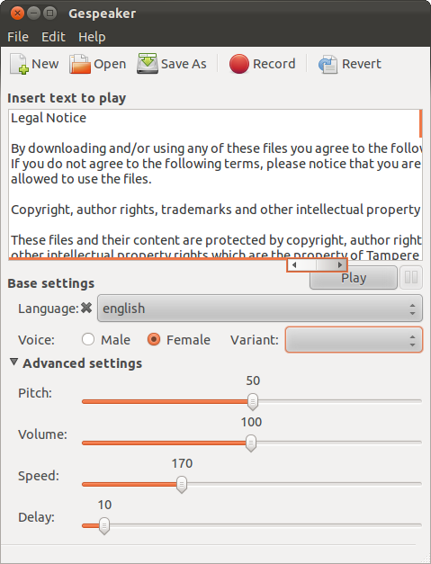 Text To Speech and Translation Application For Ubuntu Linux