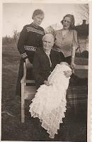 Johanna Olsen in Tonsberg Norway holding great grandchild