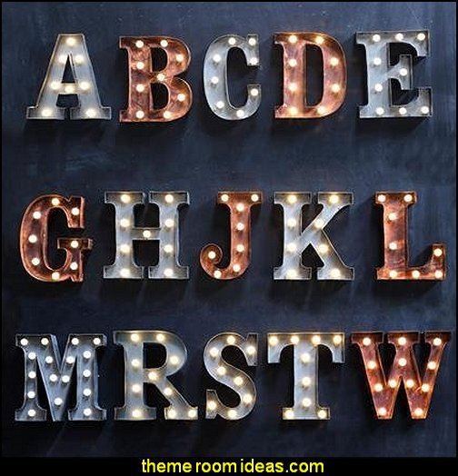 Lighted Letters - Vintage Marquee Lights wall decorations table deccorations