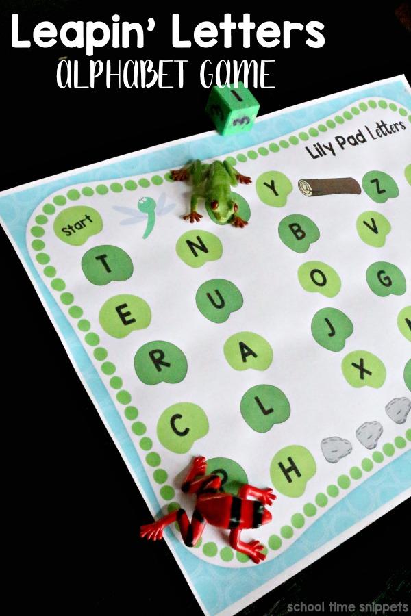 frog hop alphabet game board