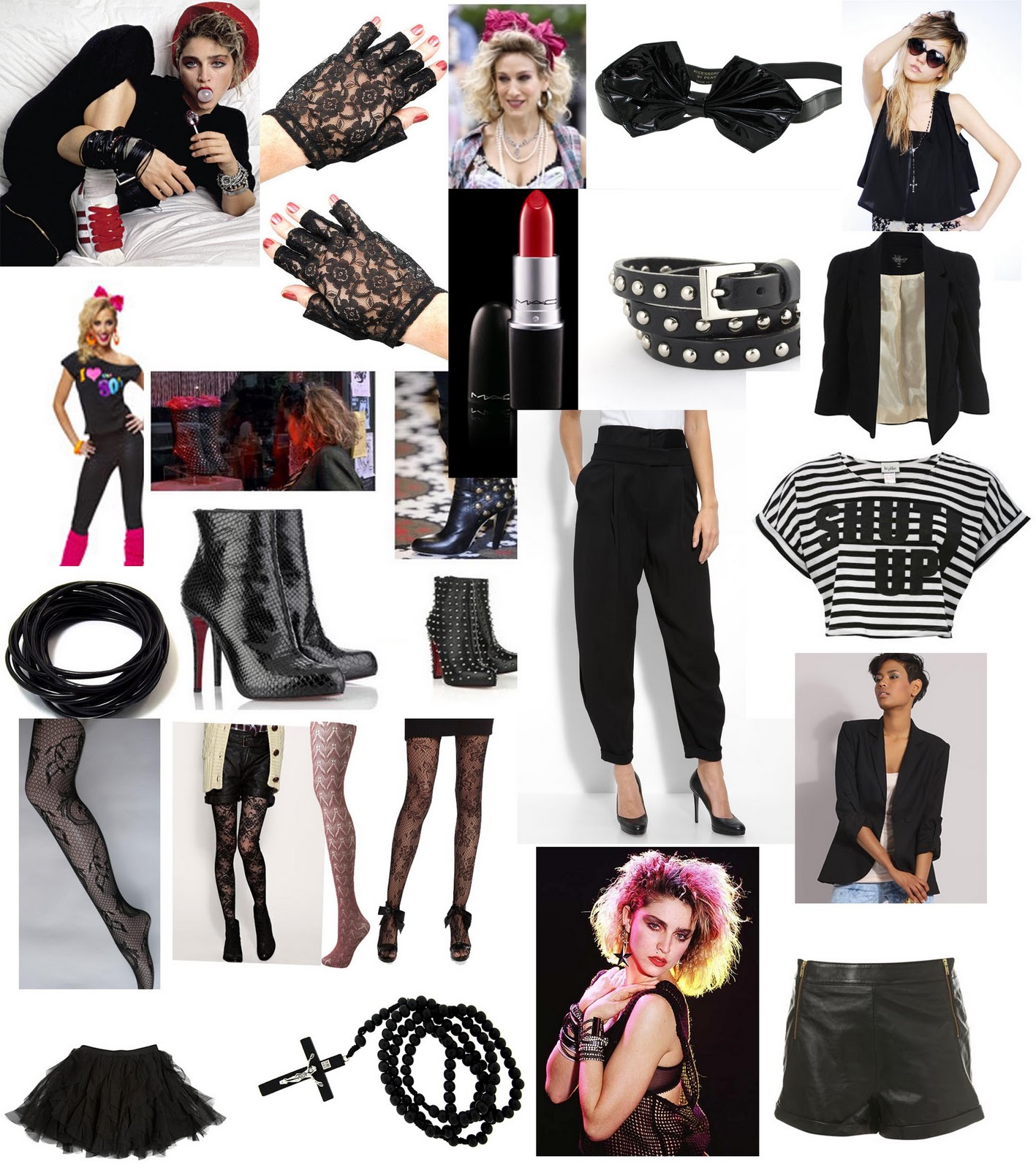 Desperately Seeking Susan  Mood Board  80s Fashion  Also some of these items are still in fashion to date so it will be so easy  to get our hands on most of the stuff we will need for the photo shoot