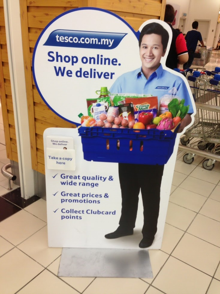 Tesco's POSM on online shopping