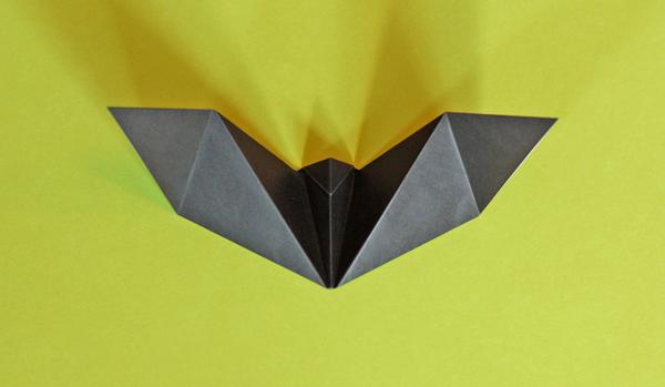 Easy Origami Bat For Halloween