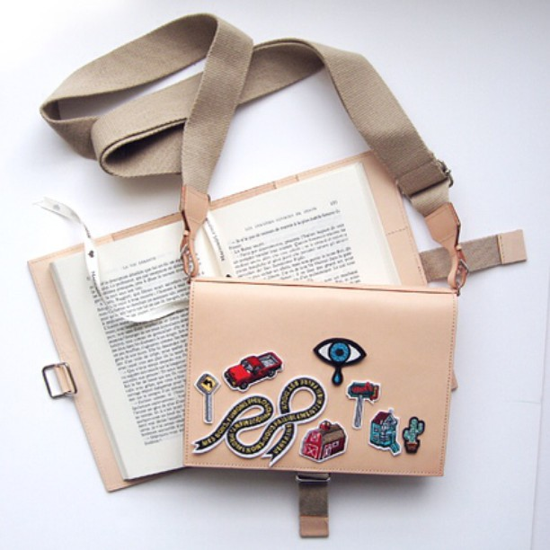 leather book carrier