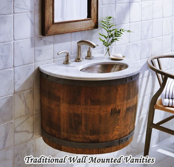Traditional Wall Mounted Vanities For Small Bathrooms